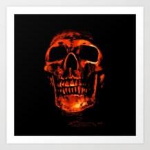 skull, photo manipulation, red,