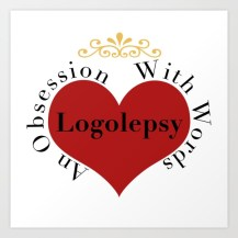 logolepsy, graphic design, heart, word obsession, writing obsession, reading obsession, love of words