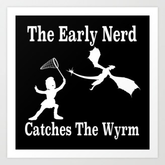 typography, graphic design, quotes, sayings, life slogans, proverbs, dragon, nerd, knight, butterfly net, soldier, dragon catching, silhouette,