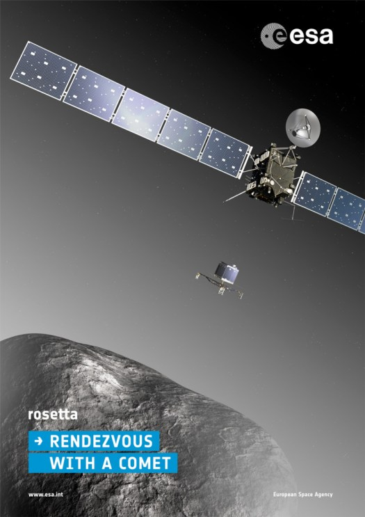 Rosetta Mission Poster - Copyright ESA–C. Carreau/ATG medialab