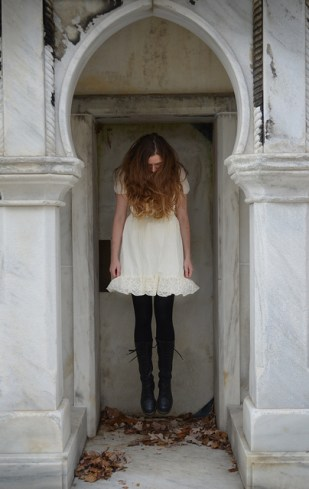 Natalie at Laurel Hill Cemetery Photo by J.R. Blackwell