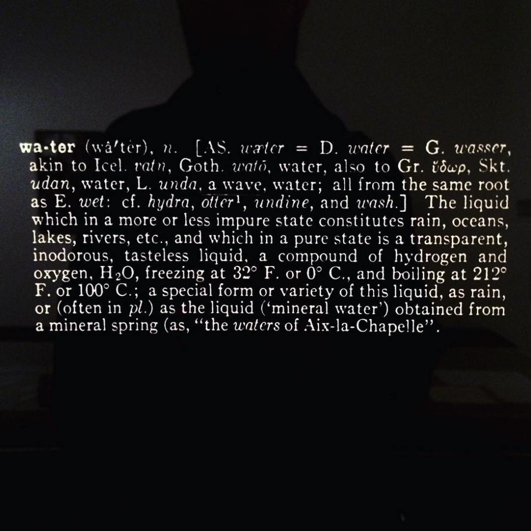 Joseph Kosuth, Notebook on Water, 1965-1966