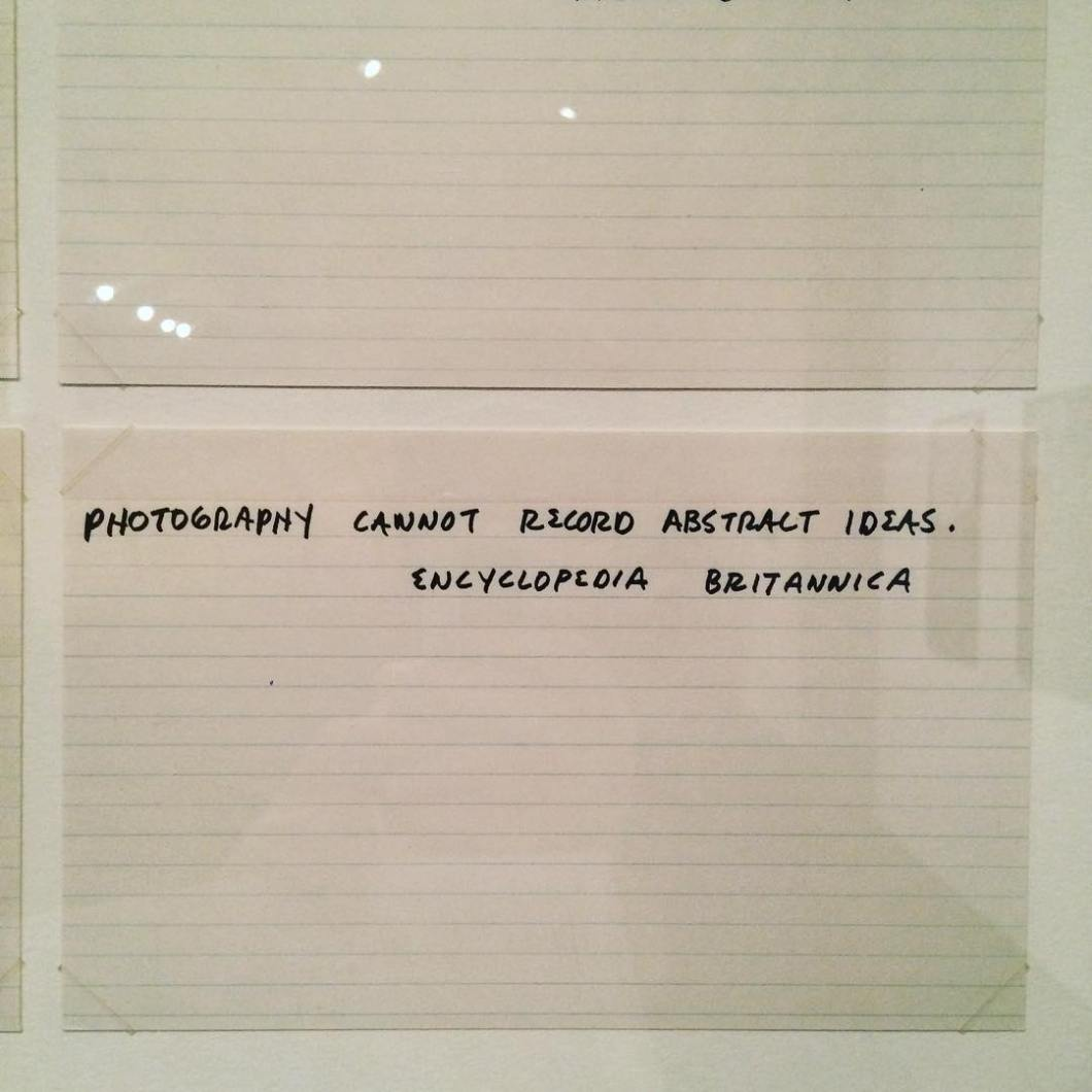 Mel Bochner. Misunderstandings (A theory of photography) from Artists & Photographs. 1970.