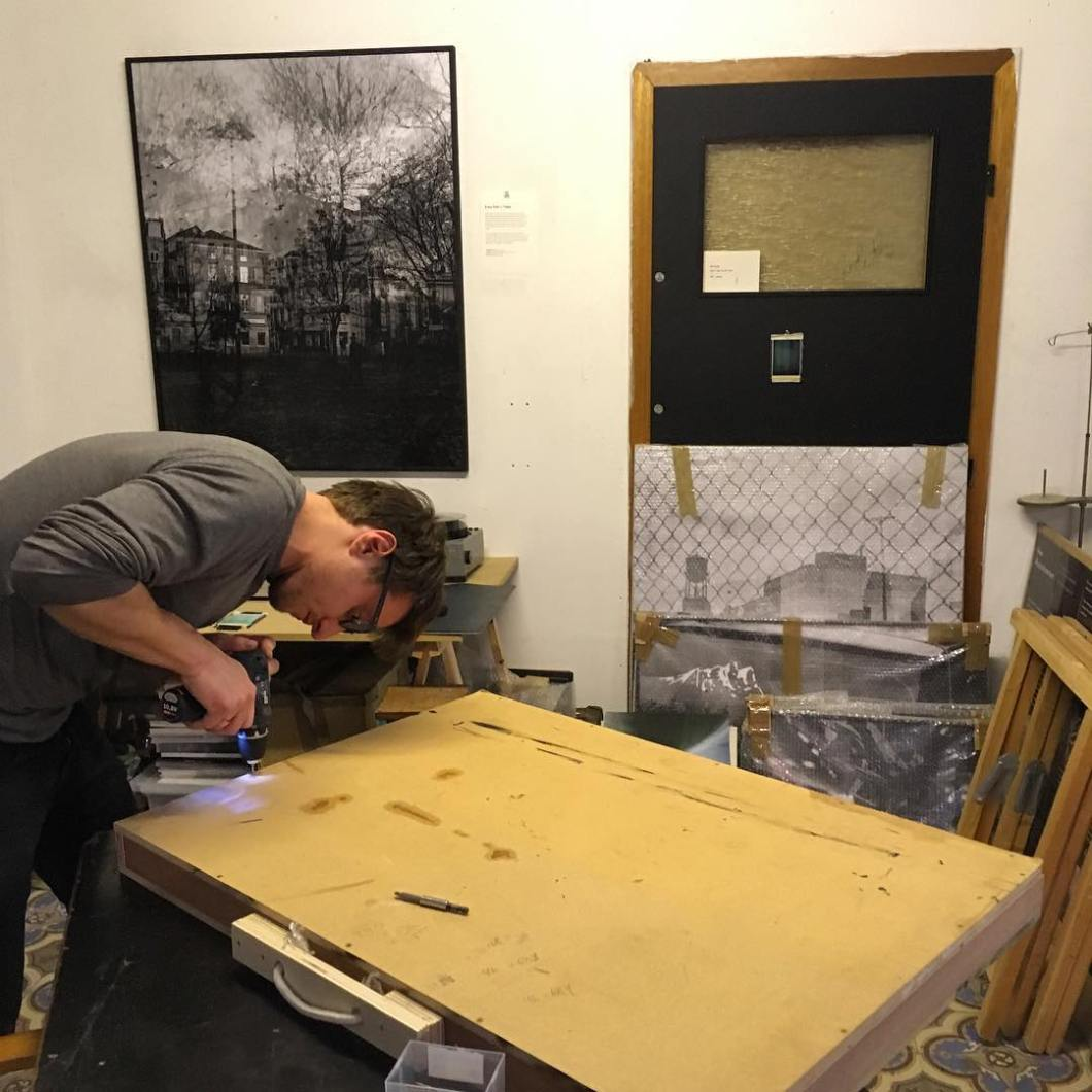 Crating work for transport.  Brussels → Thomas.  With @lamplightgallery