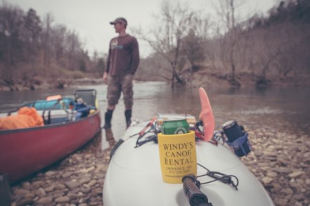 The river, the man and a beer.