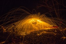 Light painting photography.