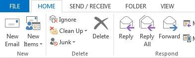 File menu tab