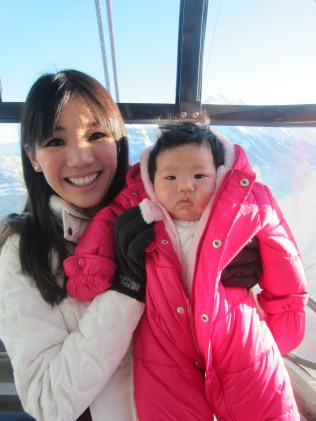 Baby E's 1st ride on a gondola
