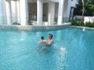 Swimming with 爷爷
