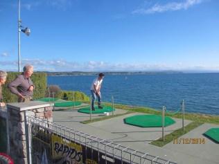 Josh playing golf