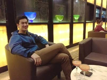 Shen at hotel lobby