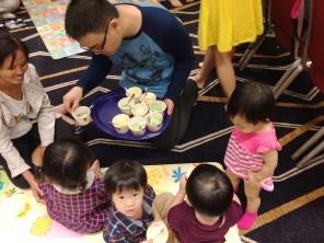 Birthday cake sharing
