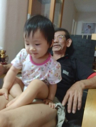 Little E with my father
