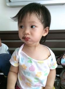 Little E having brownie
