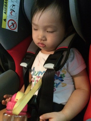 Slept in car seat