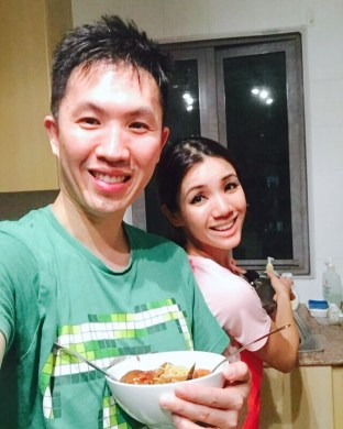 Home-cooked dinner on 4th anniversary