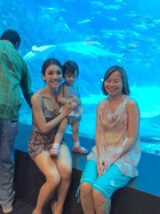 RE and Joan in the SEA Aquarium