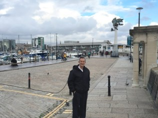 Dad at the harbour