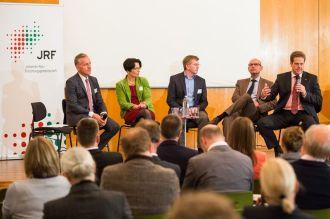 Wissenschafts-Podium. V.l.n.r.: Bigge, Liedtke, Henn, Deuse, Stich