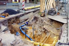 Anlagevermögen: Allein in Deutschland sind öffentliche Trinkwasserleitungen mit einem Wiederbeschaffungswert von 159 Milliarden Euro verlegt. (Foto: IKT)