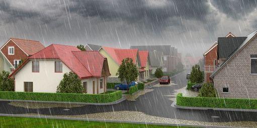Immer häufiger verursachen lokale Starkregenereignisse enorme Schäden. Das IKT erforscht die starkregensichere Gestaltung unserer Städte.