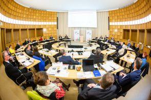 Vertreter aller 15 JRF-Mitglieder bei der Mitgliederversammlung am 2. April 2019 in Düsseldorf.