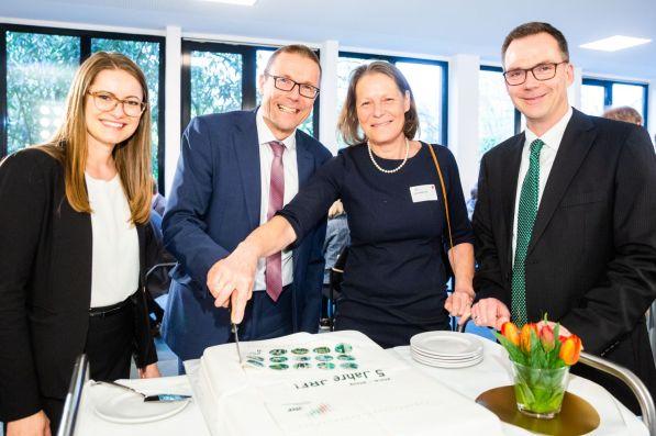 V.l.n.r. Ramona Fels, Uwe Schneidewind, Christina Rau, Dieter Bathen