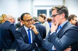 Prof. Dr. Bettar O. el Moctar, Leiter des DST; Dr. Fabian Schulz, Ministerium für Kultur und Wissenschaft NRW - (c) JRF e.V., Fotograf: Alex Muchnik
