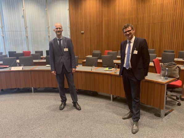 Dr. Jörn Grävingholt (DIE) und Prof. Dr. Conrad Schetter (BICC)