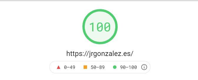 Puntuación 100 en Jrgonzalez.es