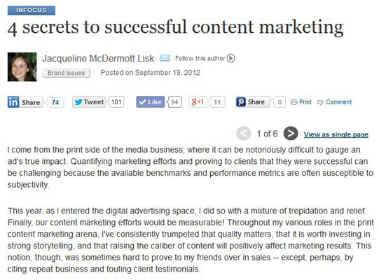 4 secrets to successful content marketing