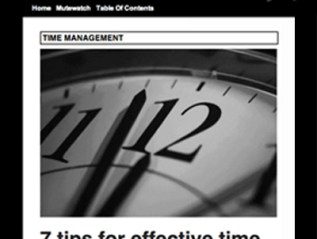 """7 Tips for Effective Time Management,"" Conversionplanet"