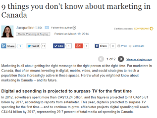 9 things you don't know about marketing in Canada, iMedia Connection