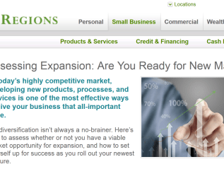 """Assessing Expansion: Are you ready for new markets?"" Regions Bank/Inc."