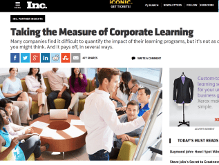 Corporate learning content for Inc. mag and Xerox