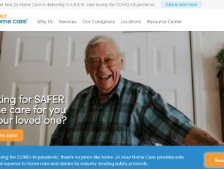 Website copy, marketing support and brand strategy for 24 Hour Home Care