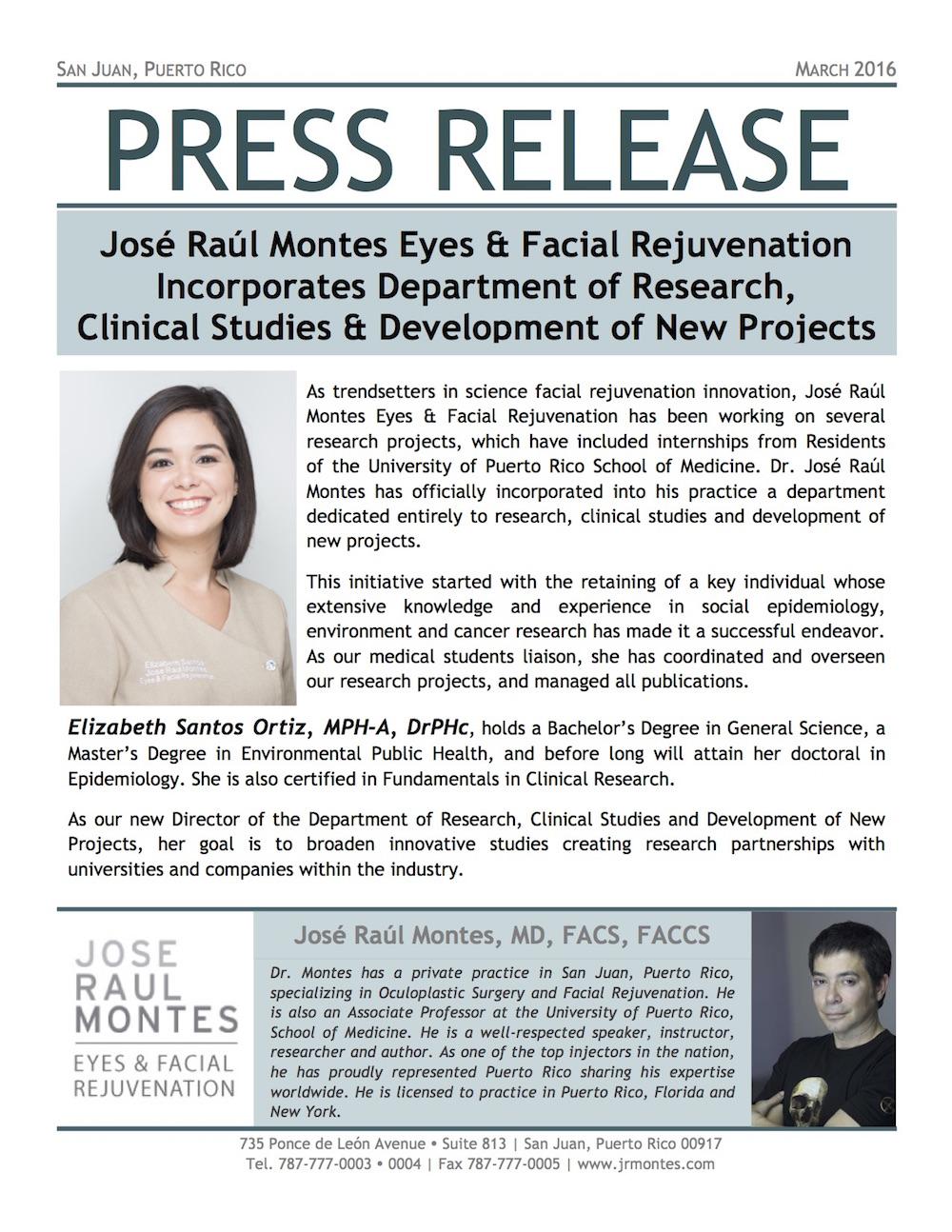 Press Release - 032016