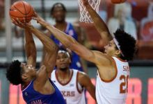 Kansas' 5-sport a success inch snapped with 75-72 extra time loss to Texas