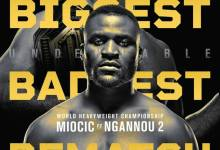 UFC 260 poster launched for Miocic vs Ngannou 2 on March 27
