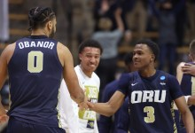Who is Max Abmas? What to know about key player in Oral Roberts' upset of Ohio Converse