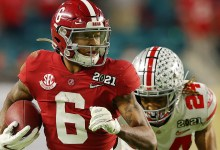 Pat McAfee perfectly explains why Alabama's DeVonta Smith have to now not need a talented day