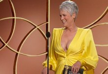 Jamie Lee Curtis Jokes About Her Plunging Golden Globes Costume: My Cleavage Is 'Encourage In The Stable'