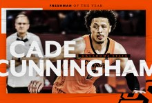 Oklahoma State's Cade Cunningham is Carrying Info' Freshman of the 365 days