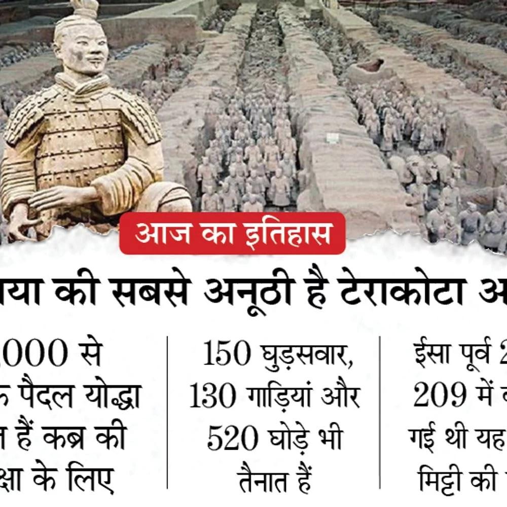 इतिहास में आज: चीन में मिट्टी से बने 8000 सैनिकों की टेराकोटा आर्मी फ्रंट आई;  5 साल पहले मोदी भी आए थे 2000 साल पुरानी इस सेना से