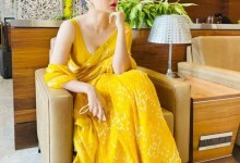 Kangana Ranaut will leave you feeling hot with her backless blouse, with plunging neckline