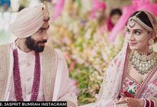 Jasprit Bumrah dances with Sanjana Ganesan on romantic song during Sangeet ceremony: WATCH