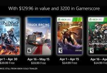 Xbox Games with Gold for the month of April a see list