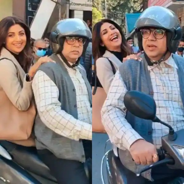Happy birthday, Paresh Rawal: Shilpa Shetty seems scared on a bike ride with the actor – watch video
