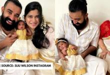 Siju Wilson and wife announce their 1-month old babys name with adorable pic