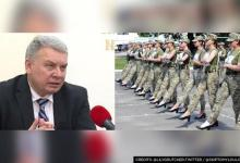 Ukrainian defence officials criticized after female soldiers made to march in heels